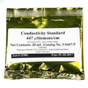 Conductivity 447 liquide de calibrage